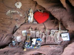 Interior de la cueva de Bruguers
